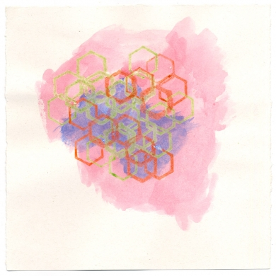 # 29 - 2012 – wax and watercolor on paper, 11 5/8 x 8 7/8