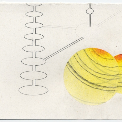 # 30 - 2012, collage, pencil and paint on paper, 5.5 x 8.5