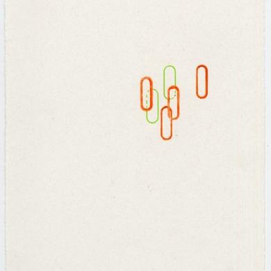#35 -2012 – wax on paper, 11 5/8 x 8 7/8 – Frame 12 5/8 x 9 7/8