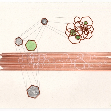 # 36 - 2012, pencil, colored pencil, marker and watercolor on paper - 8 7/8 x 11 5/8 – Frame 9 7/8 x 12 5/8