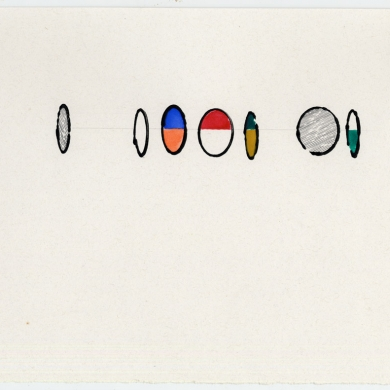 #37 - 2012, pencil and watercolor on paper - 8 7/8 x 11 5/8 – Frame 9 7/8 x 12 5/8