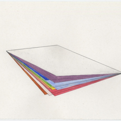# 53 - 2012, pencil and watercolor on paper - 11 5/8 x 8 7/8 – Frame 12 5/8 x 9 7/8