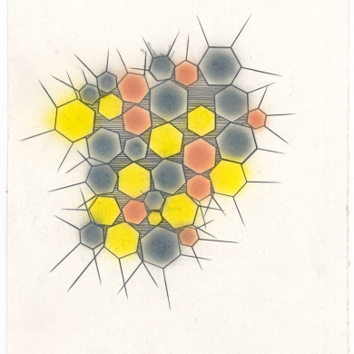 # 61 - 2013, pencil, and watercolor on paper - 11 5/8 x 8 7/8 – Frame 12 5/8 x 9 7/8