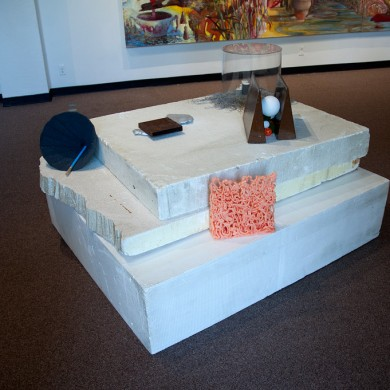 Quarry, Display of 5 unique sculptures, overall dimensions 38 x 89 x 74